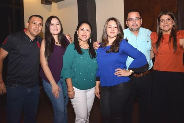 Daniel García, Jarlyn Tróchez, Bessy Villatoro, Ana Espinoza, Miguel Rodríguez y Lidia Girón.