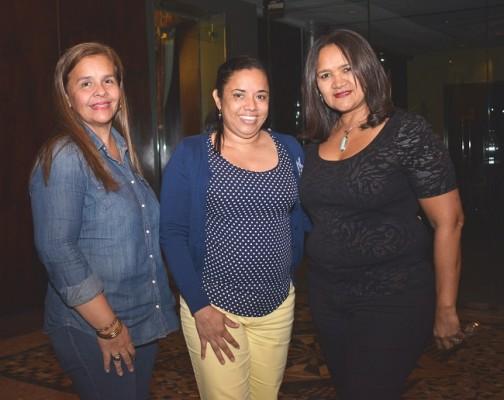Diana Madrid, Mauren Almendárez y Margarita Castellón.