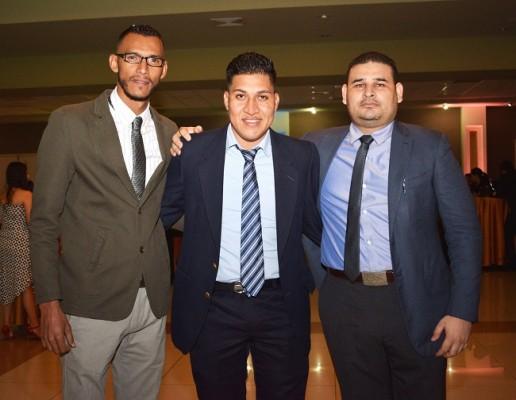 Erlin Godoy, Gerson Castillo y Edison Hernández.