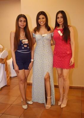 Esther Sabillon, Alexa Chávez y Zully Frech