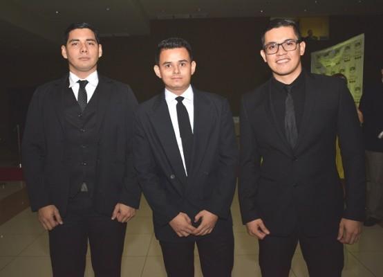Gabriel Jerezano, Frank Jiménez y Oliver Perdomo.