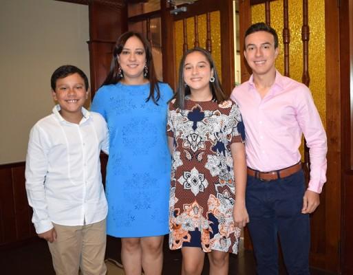 José Ignacio Cisneros, Catalina Noriega, María Fernanda Cisneros y Juan Diego Cisneros
