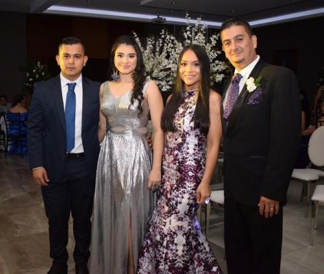 Josué Velásquez, Sandra Noriega, Cesia Velásquez y José Miguel Paz