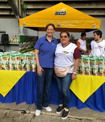 Karen de Calidonio y Sonia Mejia