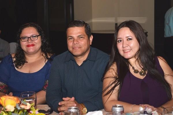 Mercy Valeriano, Geovanny Lara y Jarlyn Tróchez.