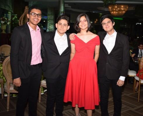 Miguel Lopez, Milton Pascua, Maria Belen Naranjo e Isaac Gomez