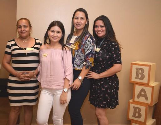 Norma Butto, Josseline Martínez, Yamileth Fajardo y Paola Coello