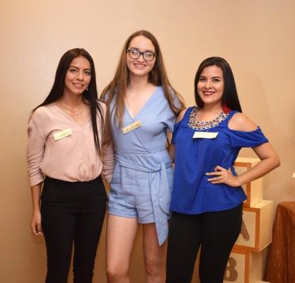 Sharon Portillo, Irma Bográn y Sherly Caraccioli