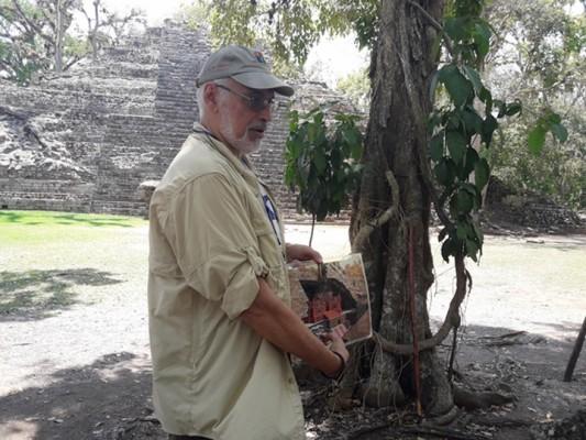 El 23 de junio de 1989, el arqueólogo hondureño Ricardo Agurcia se topó con una estructura espectacular mientras exploraba las entrañas del Templo 16 en el parque arqueológico de Copán. Foto Sergio G. García - Exposia