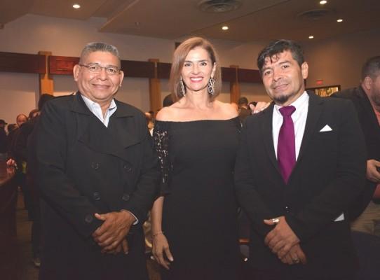 Alberto Merino, Suyapa Monterroso y Rafael Méndez.