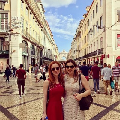 Alejandra Hernández en Lisboa
