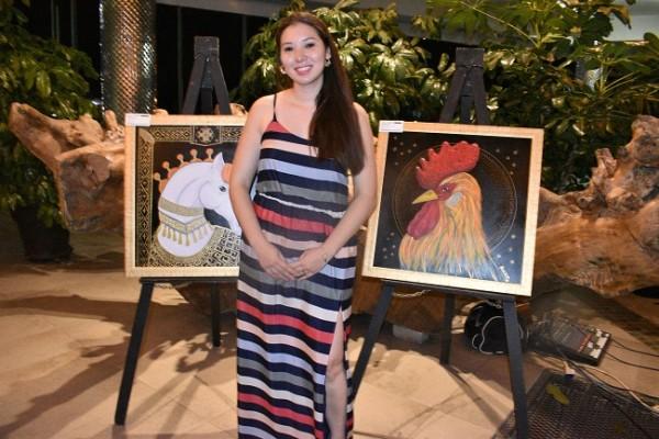 Ana Torres participó en la exposición de arte