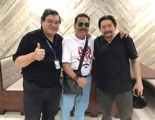 Antonio Barrera compartiendo con sus amigos de infancia y colegio los doctores Joseph Stayerman Matalon y Nathan Stayerman Matalon.