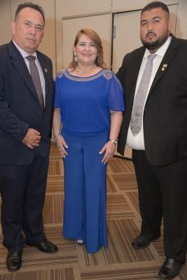 Arnold Lara, Alejandra Perdomo y Rene Funes.