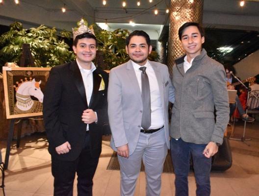 Charly Draws, Dany Villela y Miguel Vargas