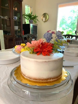 El exquisito pastel de estilo rústico que compartieron en la recepción