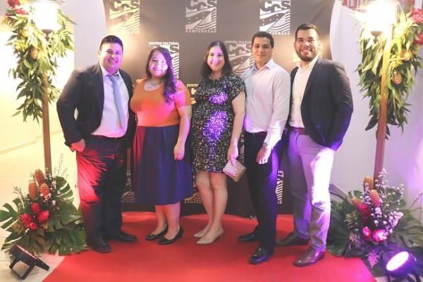 Héctor Hernández, Sharon Leiva, Karen Antúnez, Moisés López y Christian Domínguez.