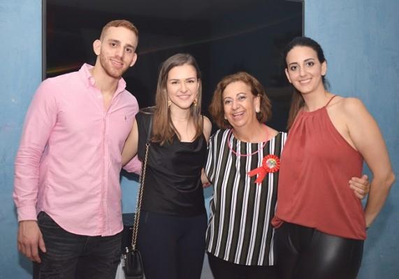 Javier Tejada, Alejandra Eris, Margarita Kawas de Tejada y Andrea Tejaeda de Peralta