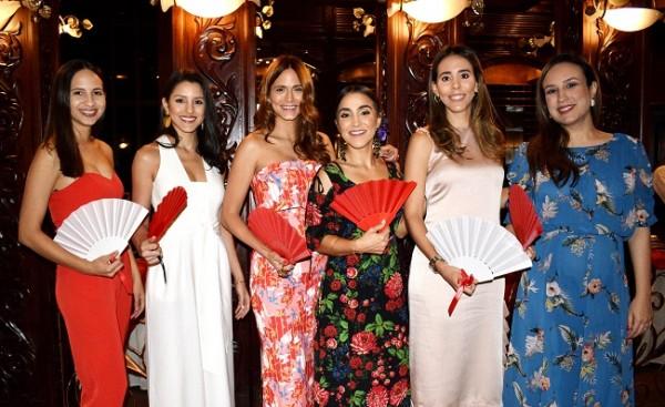 Jennifer Casco, Isabel Bendaña de Maalouf, Nilser Pineda, Audrey Verdial, Vivi Mourra y Adriana Hawit de Echeverri