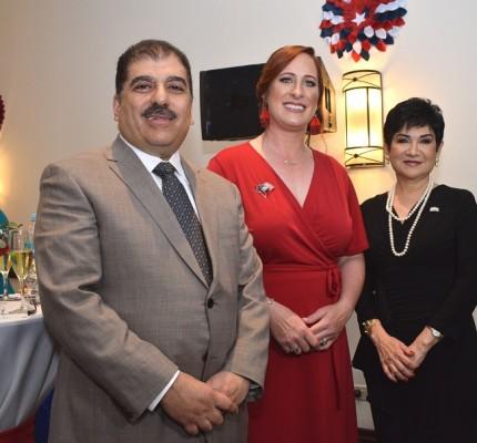 Jorge Faraj, Heide B. Fulton y María Antonia Rivera.