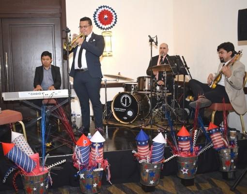 La agrupación San Pedro Sula Jazz Band amenizó la celebración.