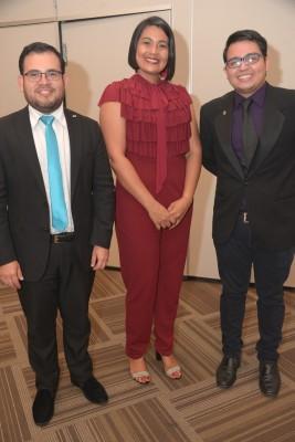 Lester Herrera, Claudia Aguilera y Luis Fernando Torres.