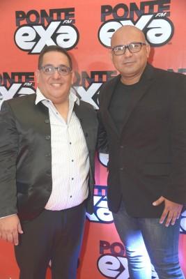 Luis Lemus, gerente administrativo y Edwin Coleman, director Exa FM.