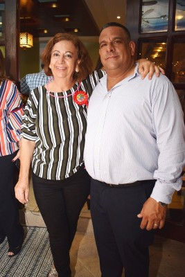Margarita Kawas y su primo, Jhonny Sikaffy