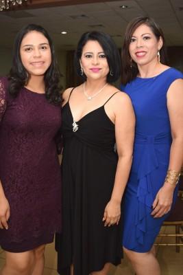 Paola Sánchez, Cira Elena Alvarenga y Diosa Madrid.