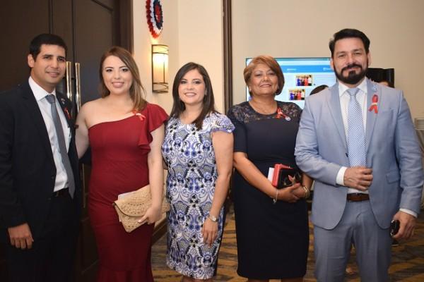 Rachid Maalouf, Sandra Rodríguez, Leyla López, Marlene Murillo y Félix Rivera.