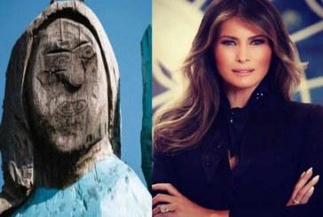 Se burlan de 'estatua' de Melania Trump tallada en árbol