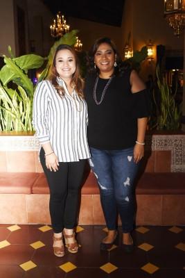 Angie López y Mirna Suazo