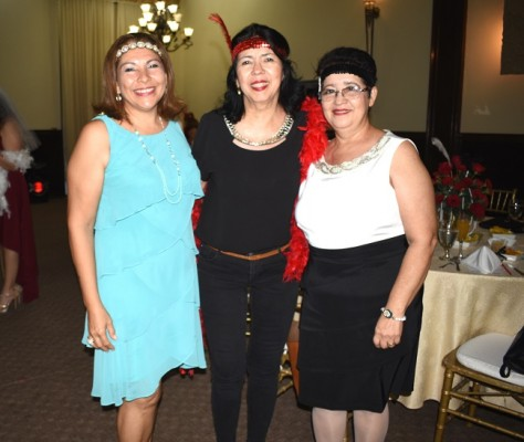 Dilcia de Cerrato, Janeth de Jovel y Velia Ocampo