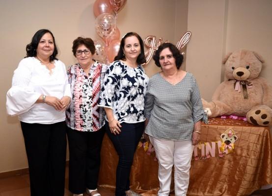 Elsa de Pinto, Amparo Zaldívar, Hindra de Iglesias y Bertha Zaldívar