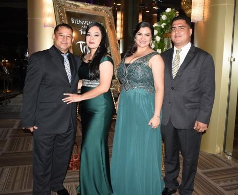 Francis Reyes, Virginia Gómez, Clarissa y Jorge Pineda