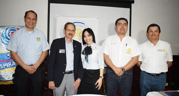 Francisco Viau, Gobernador del Distrito 4250 visita proyectos desarrollados por clubes rotarios