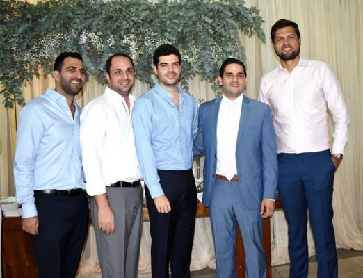 Jonathan Andonie, Elías Ganineh, Ricardo Córdoba, Gabriel Monterroso y Philipp Berkling