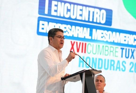 Presidente Hernández propone unidad de Mesoamérica para desarrollar el potencial de la región