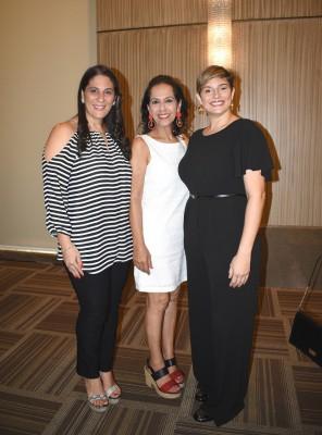 Karen Daccaret de Palma, Lorette Kawas y Pamela Rene