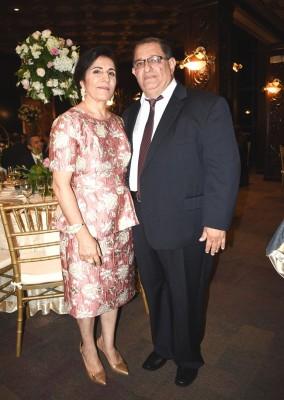 Los padres del novio, Karim Sikaffy e Ibtisam de Sikaffy