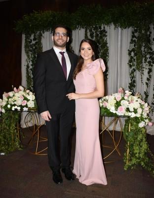 Los recién casados, Nader Sikaffy Bandack y Marilyn Gissel Márquez Sevilla, se preparan para concretar su unión eclesiástica este sábado.