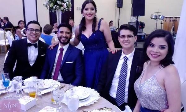 Luis Fernández, Edwin Coello, Larissa De Coello, Franklyn Fernández y María José de Fernández