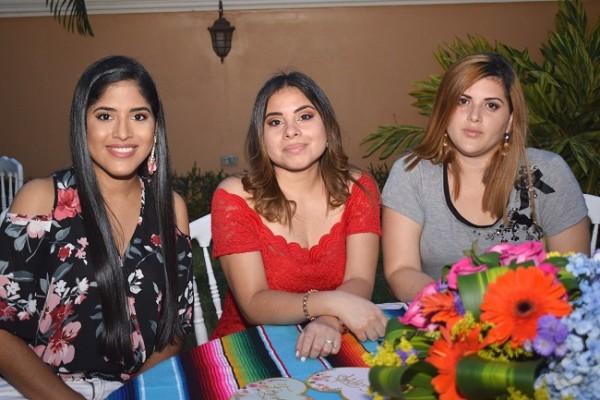 Marcia Rivera, Karen Cálix y Eimy López