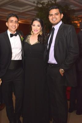 Miguel Facusse, Alejandra Reina y Ricardo Canales.