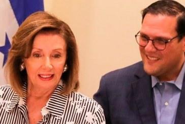 Presidenta de la Cámara de Representantes de EEUU Nancy Pelosi llega a Honduras