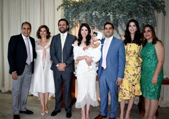 Omar y Suyapa Monterroso, David Monterroso, Valeria y Gabriel Monterroso, Camila Monterroso Zgheibra, Andrea de Monterroso y Wafa Zgheibra.