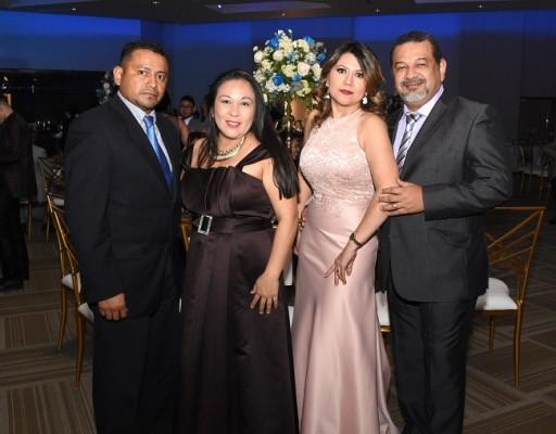 Servelio Antúnez, Cinthia Merlos, Nora Peraza y Elvis Villalobos