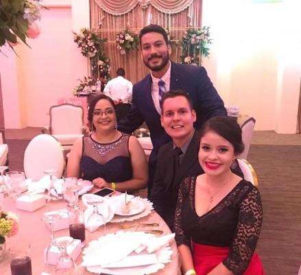 Tracy Cortés, Carlos Fernández, Osman Pascua y Alejandra Ayala