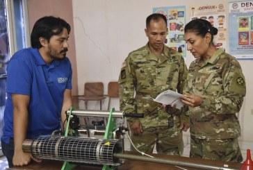 Fuerza de Tarea Conjunta Bravo con apoyo de la USAID dona equipo para el combate del dengue en Comayagua