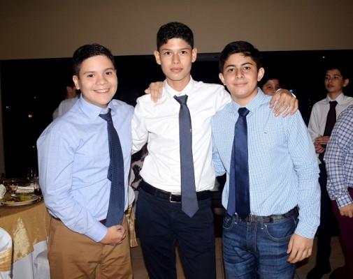 Andrés Palma, Diego Cardona y Luis Alvarado.